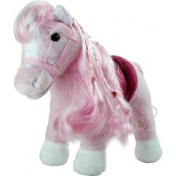Peluche poney rose Legler